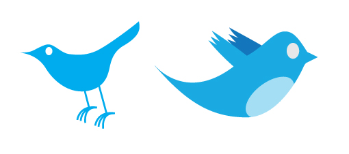 لوگوی فعال و دارای حرکت توییتر نسخه اول